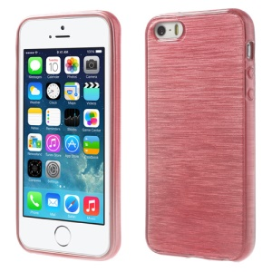 Pink Brushed TPU Shell Cover for iPhone 5s 5