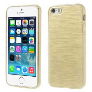 Gold Brushed TPU Case Shell for iPhone 5s 5