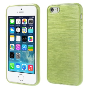 Green Brushed TPU Cover Shell for iPhone 5s 5