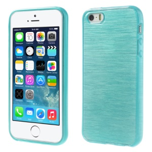 Blue Brushed TPU Gel Case for iPhone 5s 5