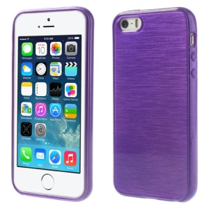 Purple Brushed TPU Gel Cover for iPhone 5s 5
