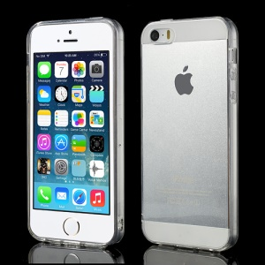 Transparent Clear Flex TPU Gel Case Cover for iPhone 5 5s - Transparent