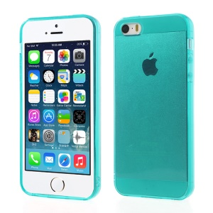 For iPhone 5 5s Transparent TPU Protective Case - Green