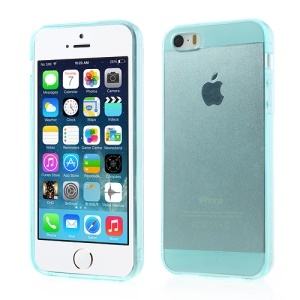 Transparent for iPhone 5 5s Soft TPU Case Accessory - Cyan
