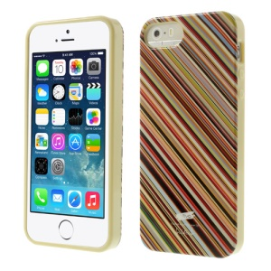 Nevo Twill Stripes Glossy TPU Cover Shell for iPhone 5s 5