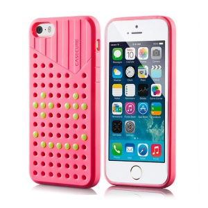 Rose Casecube Hollow Dot DIY TPU Case for iPhone 5s 5