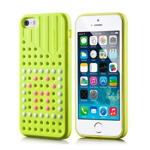 Green Casecube Hollow Dot DIY TPU Case Shell for iPhone 5s 5