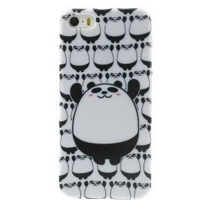 Panda Pattern Shimmering Powder TPU Protective Case for iPhone 5s 5