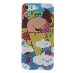 Cartoon Ice Cream for iPhone 5s 5 Shimmering Powder Gel Case