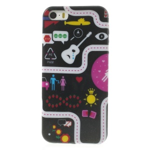 Various Signs for iPhone 5s 5 Shimmering Powder Gel TPU Shell