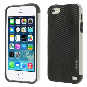 Walnutt Multi-color Edge Grid TPU Case for iPhone 5s 5 - Black