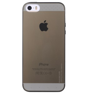 Baseus Air Series for iPhone 5s 5 Transparent Slim Soft TPU Gel Case - Transparent Black