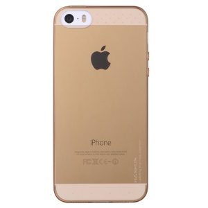 Baseus Air Series for iPhone 5s 5 Transparent Slim TPU Gel Cover - Transparent Gold