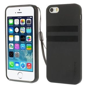 MOTOMO Soft TPU Case with Handstrap for iPhone 5s 5 - Black