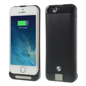 Black for iPhone 5s 5c 5 2200mAh External Battery Power Pack Stand Case w/ Digital Indicator Multicolor LED
