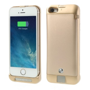 Champagne Gold for iPhone 5s 5c 5 2200mAh External Battery Power Pack Stand Case w/ Digital Indicator Multicolor LED
