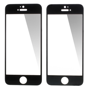 GLASTO 0.3mm Tempered Glass Screen Guard Film for iPhone 5s 5c 5 - Black