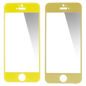 GLASTO 0.3mm Tempered Glass Screen Guard Film for iPhone 5s 5c 5 - Yellow