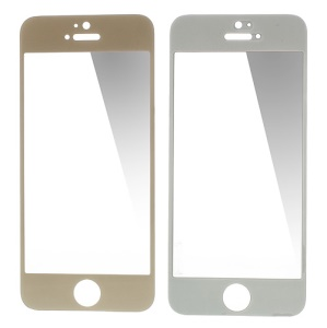 GLASTO 0.3mm Tempered Glass Screen Guard Film for iPhone 5s 5c 5 - Champagne Gold