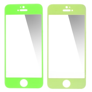 GLASTO 0.3mm Tempered Glass Screen Protector Cover for iPhone 5s 5c 5 - Green