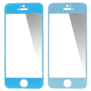 GLASTO 0.3mm Tempered Glass Screen Protector Cover for iPhone 5s 5c 5 - Blue