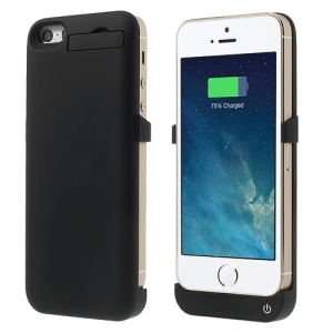 2200mAh Glossy External Battery Charger Case w/ Stand for iPhone 5 5s 5c - Black