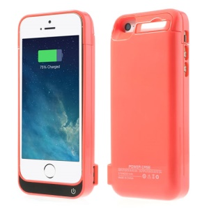 4200mAh Detachable Glossy Battery Charging Case w/ Stand for iPhone 5 5s 5c - Pink