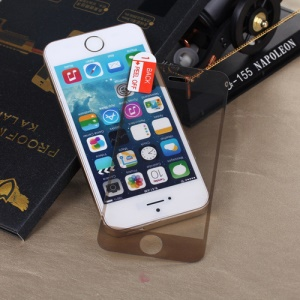 KLX for iPhone 5s 5 Tempered Glass Screen Guard Front & Back Film 0.3mm - Plating Gold