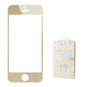 0.3mm Colored-plating Tempered Glass Guard Film for iPhone 5 5s - Champagne