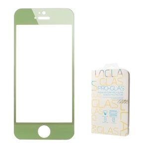 0.3mm Colored-plating Tempered Glass Screen Protector for iPhone 5 5s - Green