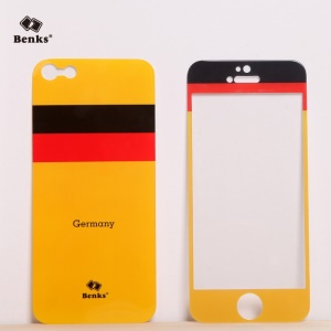 Benks for iPhone 5s 5 Magic AKR+ World Cup German Flag Tempered Glass Screen Film + PET Back Film