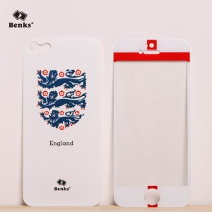 Benks for iPhone 5s 5 Magic AKR+ World Cup England Flag Tempered Glass Screen Film + PET Back Film