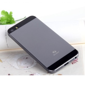 Grey Benks for iPhone 5s 5 Magic OKR 9H Scratch-resistant Shatterproof Glass Back Cover Protector