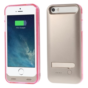 iFans Battery Charger Case + Changeable Frame for iPhone 5s 5 - Rose