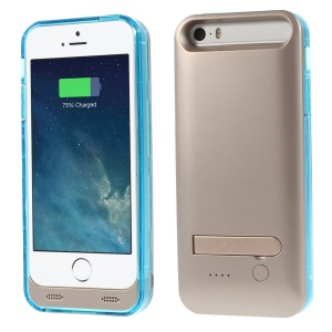 iFans Battery Charger Case Power Bank + Changeable Frame for iPhone 5s 5 - Blue