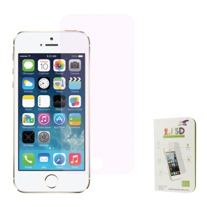 Pink 0.3mm Colored-plating Tempered Glass Screen Protector Guard Film for iPhone 5s 5 (Arc Edge)
