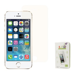 Champagne Gold 0.3mm Colored-plating Tempered Glass Screen Protector for iPhone 5s 5 (Arc Edge)