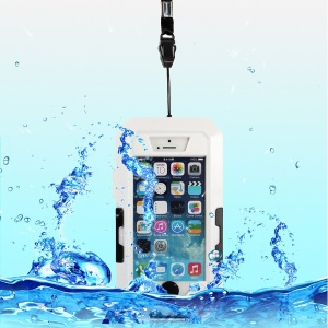 360 Degree Rotation Waterproof Shockproof Bicycle Mount Holder Cover for iPhone 5s 5 - White