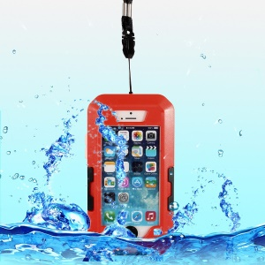 360 Degree Rotation Waterproof Shockproof Bicycle Handlebar Holder Case for iPhone 5s 5 - Red