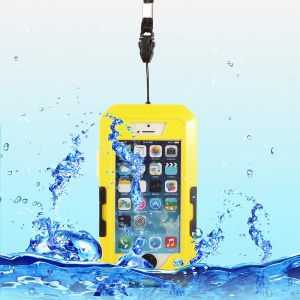 360 Degree Rotation Waterproof Shockproof Bicycle Handlebar Holder Cover for iPhone 5s 5 - Yellow