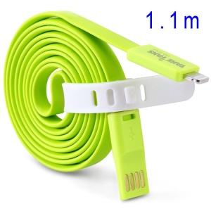 Green TakeFans Dazzle Color Series II 110cm Lightning 8pin USB Data Charging Cable for iPhone 5c 5s 5 / iPad Air / iTouch 5