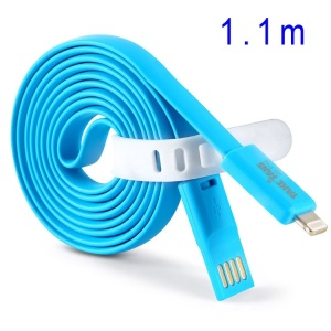 Blue TakeFans Dazzle Color Series II 110cm Lightning 8pin USB Data Charging Cable for iPhone 5c 5s 5 / iPad Air / Nano 7