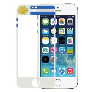 Uruguayan Flag Tempered Glass Screen Protector Shield Film for iPhone 5s 5