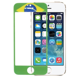 Brazilian Flag Tempered Glass Screen Protector Film Guard for iPhone 5s 5
