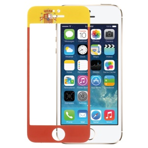 Spanish Flag Tempered Glass Screen Protector Film for iPhone 5s 5