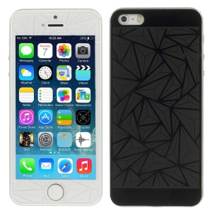 Geometry Pattern Anti-explosion Front + Back Tempered Glass Screen Protector for iPhone 5s 5