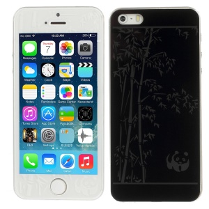 Panda & Bamboo Pattern Anti-explosion Front + Back Tempered Glass Screen Film for iPhone 5s 5
