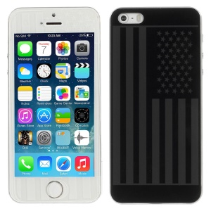 US American Flag Pattern Anti-explosion Front + Back Tempered Glass Screen Cover Film for iPhone 5s 5