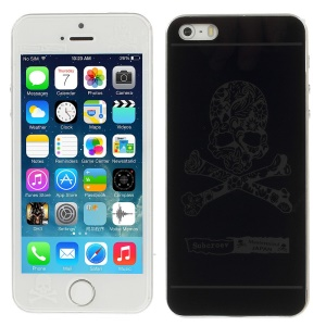 Skull Pattern Anti-explosion Front + Back Tempered Glass Screen Guard Film for iPhone 5s 5