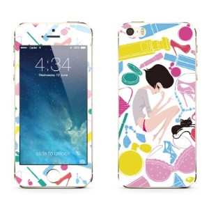 Benks for iPhone 5c 5s 5 Magic OKR+ 0.3mm Shatterproof Glass Screen Protector Front + Back Film - Colorful Life of Miss Puff